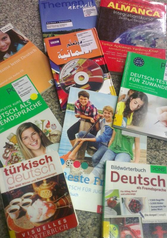 Deutsch lernen mit Büchern aus der Stadtteilbücherei