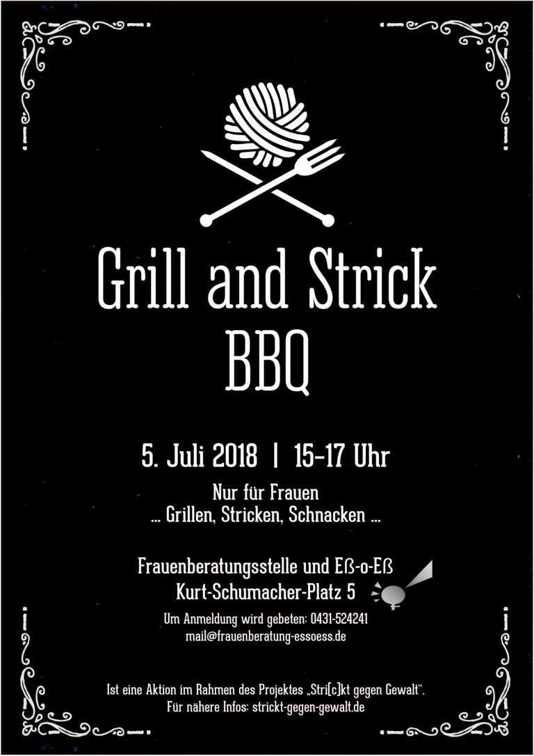 Grill & Strick BBQ in der Frauenberatungsstelle