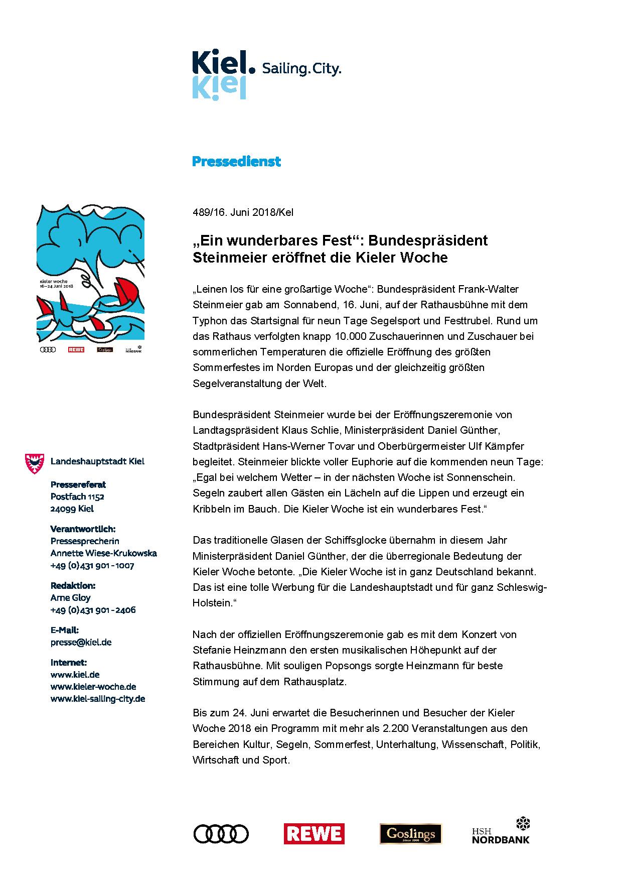 Die Kieler Woche 2018 ist gestartet